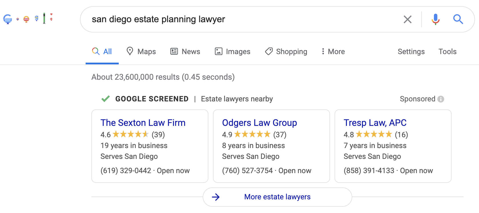 Google Guaranteed for Law Firms